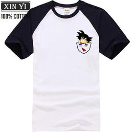 China Men's Cotton T-Shirt Dragon Ball T Shirt Men Dragon Ball Z super son goku Slim Fit Cosplay 3D T-Shirts vegeta Tshirt Homm suppliers