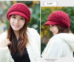 Black Knit Hat Brim Canada - 2018 Fashion Women's Girl Stretch Knit Hat Messy Bun Ponytail Beanies Holey Warm Winter Hats Trendy Warm Messy Holey Hat