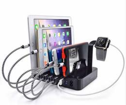 Multi port usb carregador de telefone 6 portas de carregamento rápido dock station stand holder para iphone 7 6 6 s 5 samsung xiaomi redmi iwatch