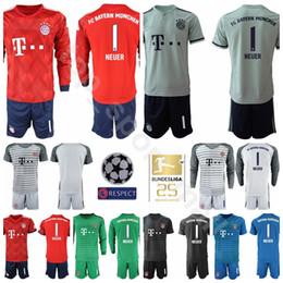 1efea5698e5 18 19 Bundesliga Goalkeeper Bayern Munich Soccer 1 Manuel Neuer Jersey Men  GK Red 26 Sven Ulreich 1 Oliver Kahn Football Shirt Kits
