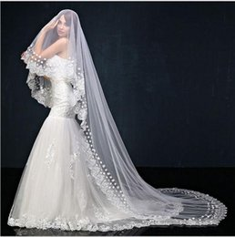 Pearl Net Dress Canada - Pearl white Lace Nail beads veil of white decals gauze veil parts hot sale lace wedding dress Free shipping wedding bridal
