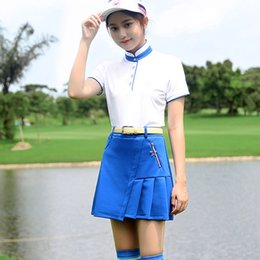 Wholesale 2018 New PGM olf Skirt Tennis Skirt Crease Skirt Golf Clothing Summer for Women Girl Lady Navy Blue White Red XS S M L XL