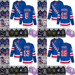 2019 New York Rangers 8 Cody McLeod 12 Peter Holland 13 Kevin Hayes 18 Marc  Staal Hockey Jersey Stitched S-3xl 35af97e9f
