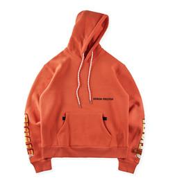$enCountryForm.capitalKeyWord Canada - Mens Designer Hoodies Letter Printed Orange Sweatshirts 2018 Autumn and Winter Fleeced Street Style Pullovers XS - XL