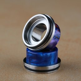 stainless drip tip cap NZ - Epoxy Resin Stainless Steel Drip Tip Wide Bore Mouthpiece Big Chuff Cap for 24mm 25mm RDA RBA RTA RDTA Tank Atomizer Vape DHL
