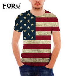 Discount teens summer clothes - FORUDESIGNS Casual Men Summer T Shirts American Flags Print Tshirts for Teens Boys Brand Short Sleeve Top Tee Clothing P