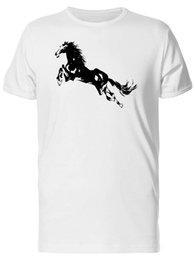 Men S Clothes Images NZ - Black Silhouette Of A Horse Men's Tee -Image by Shutterstock Men Clothing Plus Size S M L Xl Xxl Base Shirt