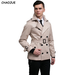 CHAOJUE New Trincheira dos homens Casaco Inglaterra Qualidade Trenchcoat Bege Plus Size 3XL Mens Trench Coat Masculino Slim Fit Jaqueta Para O Presente