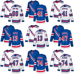kevin hayes 2019 - 2018 New Brand Adults New York Rangers 13 Kevin Hayes 41 Alexei Bereglazov 47 Kampfer 74 Pedrie Blue White Ice Hockey Je