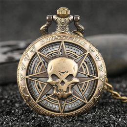 $enCountryForm.capitalKeyWord NZ - Rock Fashion Pocket Watch Skull Stars Skeleton Carving Pendant Chain Rebellious Gothic Hollow Clock Hot Cool Gifts for Men Women