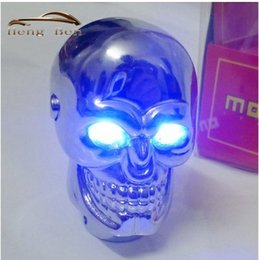 skull gear shift knobs NZ - HB Universal Skull Gear Shift Knob for Manual Gear Skeleton head with Red and Blue LED Light Racing Level Shifter