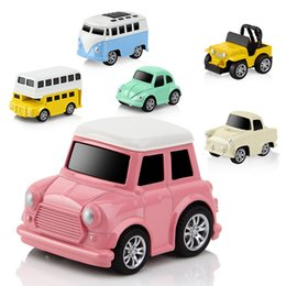 $enCountryForm.capitalKeyWord NZ - Children Toys Mini Car Bus 8 Style Model Light Alloy Back Force Car School Bus Boys Educational Toys Model Cars