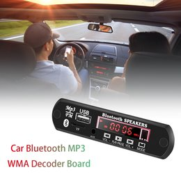 Discount control disk - 12V Wireless Audio Module Board Car Audio Support FM Radio Bluetooth TF U-Flash Disk MP3 WMA With Infrared Remote Contro