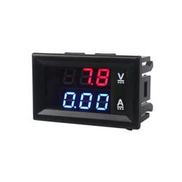 Dc Amp Meter Gauge Australia - High Quality DC 100V 10A Voltmeter Ammeter Blue + Red LED Amp Dual Digital Volt Meter Gauge