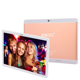tablet pc 4g sim phone call NZ - BMXC 10.1 inch tablets Android 7.0 Octa Core 4G LTE Dual SIM Phone Call 64GB ROM 4GB RAM WIFI bluetooth GPS tablet pc