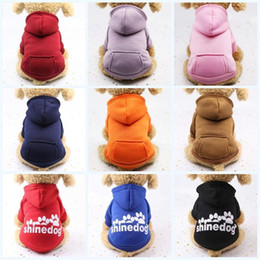 $enCountryForm.capitalKeyWord NZ - Outdoor Sports Dogs Sweater Keep Warm Winter Pet Cartoon Hoodie Dog Apparel Classic Portable Clothing With Multi Color 5 5gg ff