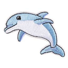 $enCountryForm.capitalKeyWord NZ - Dolphin Embroidered Patches Sewing Iron On Sea Animals Badge For Bag Jeans Hat T Shirt DIY Appliques Decoration