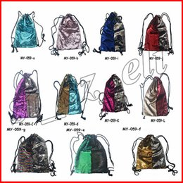 lace backpacks Australia - Mermaid Glitter Sequins Backpacks Drawstring Fashion Sport Gym PE Backpacks Crossbody HandBags Cosmetic Makeup Bag Tote Storage Bag
