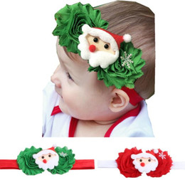 elastic girl hair 2019 - Christmas Baby Headband Baby Kids Elastic Floral Christmas Stretch Headband Newborn Girls Baby Hair Band Xmas cheap elas