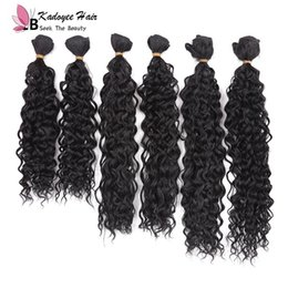 bohemian hair weft 2019 - 14-18inch 6pcs lot Loose wave Synthetic braiding bohemian hair extensions Jerry curly wavy hair bundles wholesale ombre