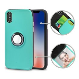 $enCountryForm.capitalKeyWord Canada - Ring Holder Magnetic Car Kickstand Case for iphone 6 6s 7 8 9 plus x with card slots and Makeup Mirror Armor Cover