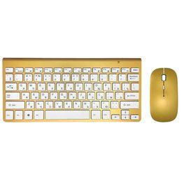 Клавиатура мышь комбо клавиатура ультра-тонкий беспроводная клавиатура мышь комбо 2.4 г беспроводная мышь для Apple стиль Mac Win XP/7/8/10 Tv