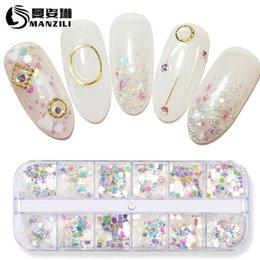 Nails Art & Werkzeuge 6 Stücke Mischte Nail Art Pailletten Glitter Set Charme 3d Nagel Pulver Paillette Flocken Diy Symphonie Nagel Dekorationen