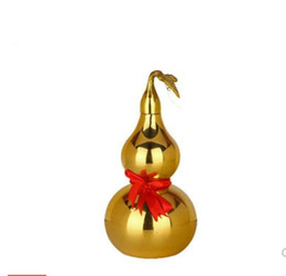 brass block Canada - Opening the bronze home auspicious gourd Feng Shui ornaments Brass metal crafts town house evil spirits