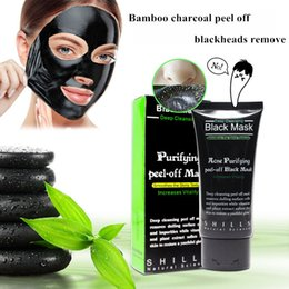 $enCountryForm.capitalKeyWord Canada - 50ml SHILLS Blackhead Removal Bamboo charcoal Black peel off Mask Nose strip Peel Off black Mask Pores Shrinking Oil-control free shipping