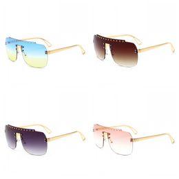 Vision alloy online shopping - Men And Women New Style Fashion Frameless Sun Glasses UV Protection Rivet Retro Design Sunglasses Clear Vision Eyeglasses nq Z