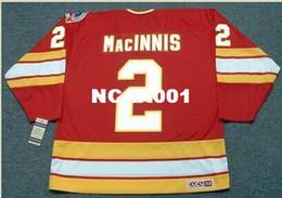 Discount al macinnis - Mens #2 AL MacINNIS Calgary Flames 1989 CCM Vintage Retro Away Hockey Jersey or custom any name or number retro Jersey