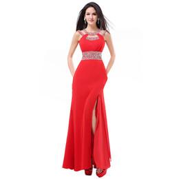 c712ac4c2 Sirena Vestidos de fiesta de baile Nueva espalda sexy Barato En stock  Diseñador Más tamaño Vestidos