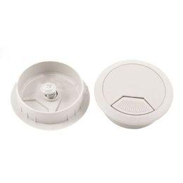 Chinese  NOCM-PC Desk Gray Plastic 50mm Diameter Grommet Cable Hole Cover 10 Pcs manufacturers