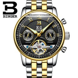 $enCountryForm.capitalKeyWord NZ - BINGER Tourbillion Black Golden Wave Dial Fashion Casual Design Men Watch Top Brand Mechanical Automatic Wrist Watch For Men