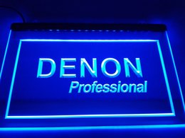 Home Theater Lights NZ - LL037- Denon Home Theater Audio NR LED Neon Light Sign home decor crafts