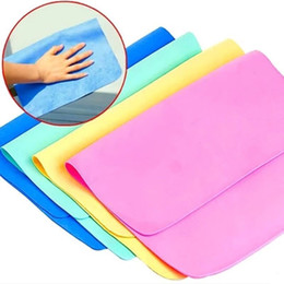 Wholesale car Wash drying toWels online shopping - Soft Rectangle Washcloth Water Absorption Dry Hair Towel Safe Non Toxic Car Wash Facecloth Hot Sale jj BB