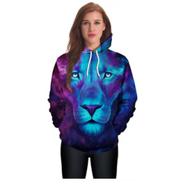 4c38f366a3c2 2018 New Fashion Long Sleeve Anime lion 3D Print Hoodies Sweater Sweatshirt  Jacket Pullover Purple Women Couples With Hat Baseball clothing