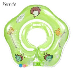Baby Pool Inflatables NZ - vertvie 2017 Baby Swimming Pool Accessorie Baby Swimming Ring Neck Ring Safety Infant Child Bathing Inflatable Neck Float Circle