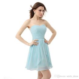 Real Images Chiffon Cheap Homecoming Dresses 2017 A Line Light Blue  Vestidos de Renda Short Prom Dresses Vestido de Festa Curto 839daf271