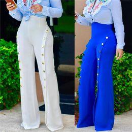 $enCountryForm.capitalKeyWord Canada - Women Slim High Waist Pants Split Bell Bottom Legging Soft Women Soild Trousers Comfortable Flares Pants Button Legging S-2XL