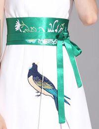 $enCountryForm.capitalKeyWord Canada - Sell Designer Silk Obi Belt Wonderful Embroidery Floral Bamboo Japanese Belt Wide Fantastic Waist Band Dress Accessories