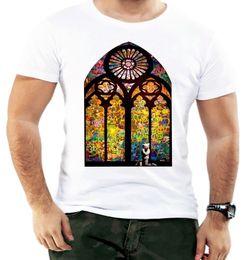 $enCountryForm.capitalKeyWord Australia - Banksy Colorful Church Men T Shirt Summer Casual Trend Cool Design Graffiti Art Men T Shirt Great Quality Funny Man Cotton