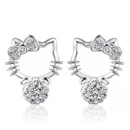 $enCountryForm.capitalKeyWord Canada - 925 sterling silver items jewelry Shambhala stud earrings hello kitty shaped vintage wedding girl ethnic charms