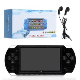 Discount handheld pocket games - X6 Handheld Mini Game Console Portable 8GB Memory 4.3inch Screen Pocket Size Classic Game Console With Classic Games Cam