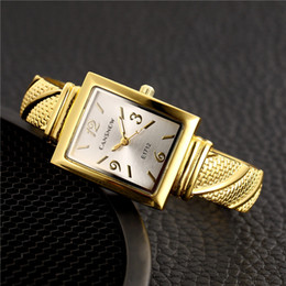 Wholesale CANSNOW Luxury Gold Stainless Steel Bangle Watches Women Fashion Bracelet Watch Ladies Casual Wristwatch Female Dress Clock