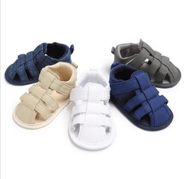 Boys Barefoot Sandals Canada - Wholesale summer Casual baby sandals shoes!0-18 M Non-slip toddler shoes,soft kids floor shoes,boys Barefoot sandals.12pairs 24pcs.SX
