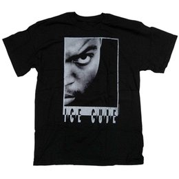 nwa t shirt UK - Ice Cube T Shirt - Portrait 100% Official Black Classic Hip Hop NWA Rap T-Shirt Mens Print T-Shirt 100% Cotton top tee