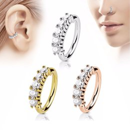 f35313059 O Shaped 1.2mm Zicron Silver Plated Nose Rings Body Piercing Jewelry  Designer Jewelry Open Hoop Earrings Studs Non Piercing Rings