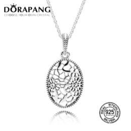Lace neckLace diy online shopping - DORAPANG Sterling Silver Floral Daisy Lace Pendant Necklace Pendant Charms Bead For Mother Gift Bracelet DIY
