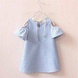 striped dress for girls NZ - Summer Girl Dress Striped Kids Dresses For Girls Party Princess Children Vestidos Birthday Party Gown